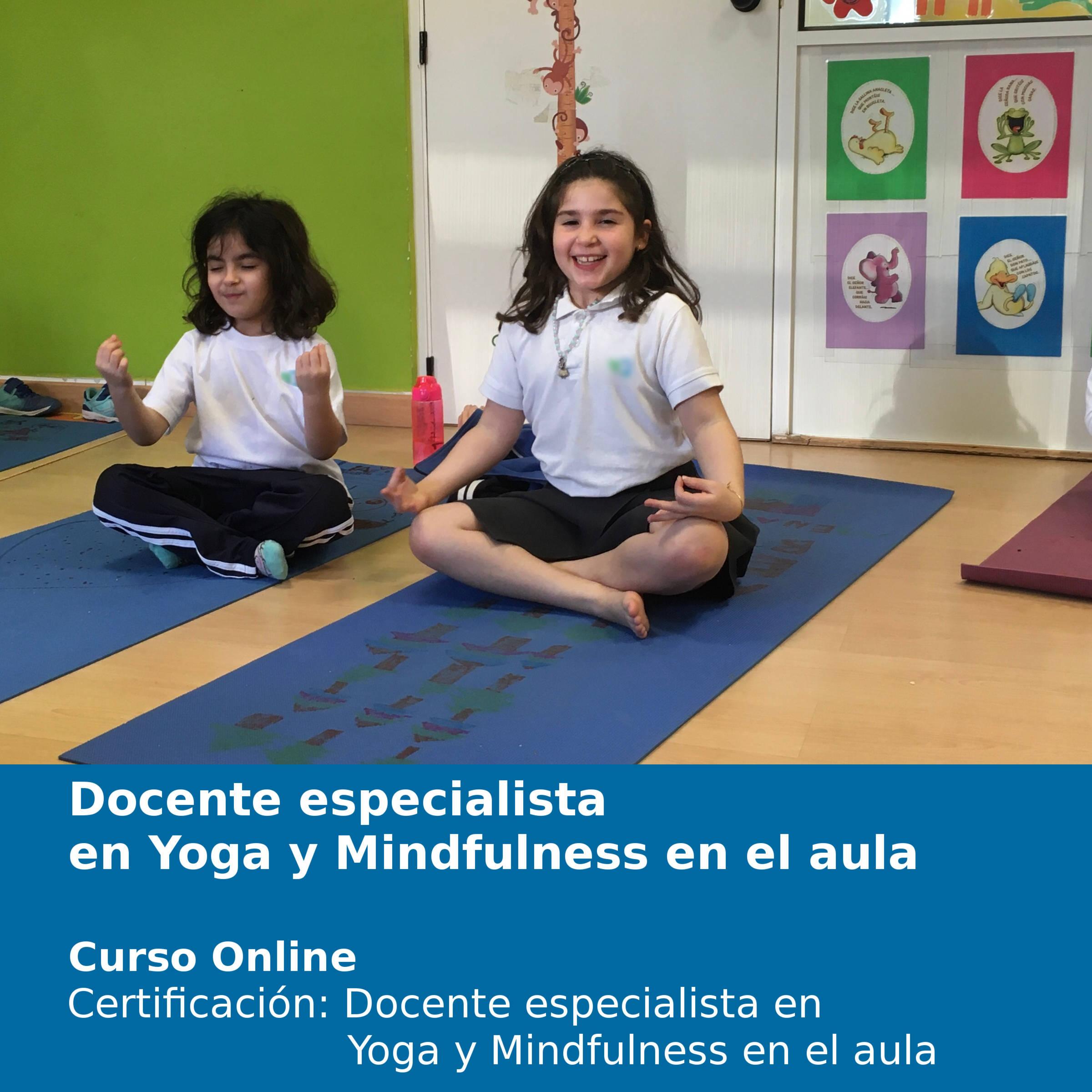 Docente especialista en Mindfulness y yoga en el aula