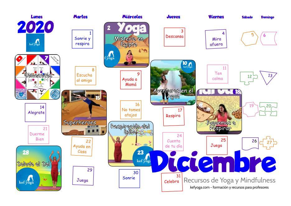 ¡Descarga tu calendario de Diciembre para el aula o casa!