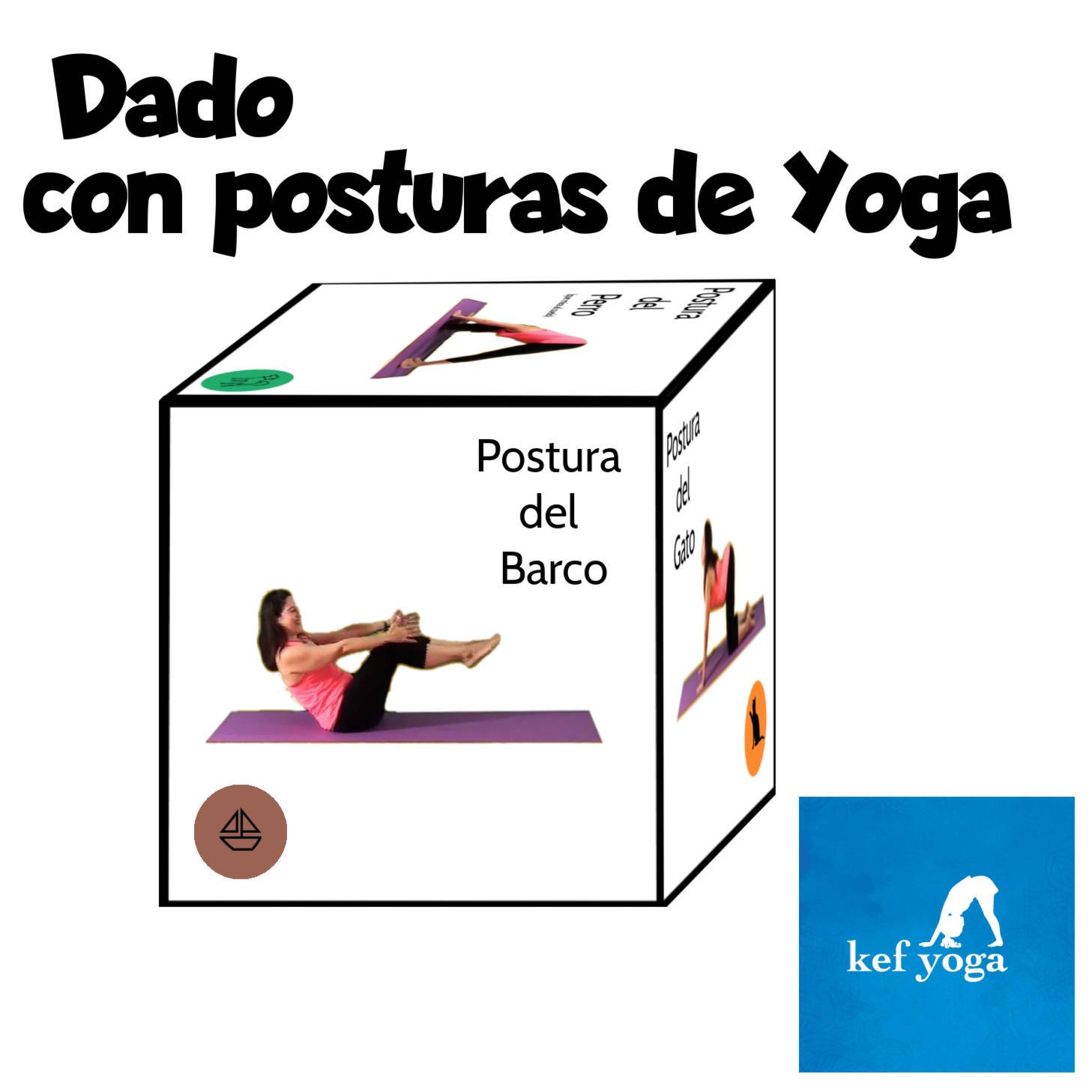 Dado con posturas de Yoga